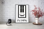Plakat - Piano - Fortepian - Keep smiling