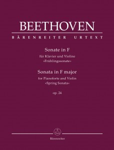 "Ludvig van Beethoven - Sonata na fortepian i skrzypce F-dur op. 24 ""Wiosenna"" - Sonata for Pianoforte and Violin in F major op. 24 ""Spring Sonata"""