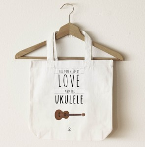 Torba z 2 uchami - All you need is - LOVE AND THE Ukulele