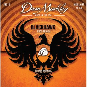 DEAN MARKLEY STRUNY DO GITARY AKUSTYCZNEJ BLACKHAWK PURE BRONZE 12-53