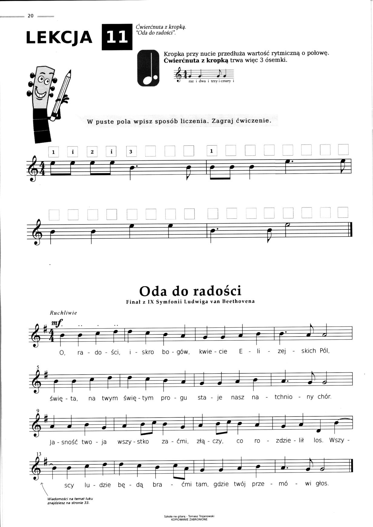 Chłodny Szkoła na gitarę - Podstawy gry melodycznej i akordowej z nut oraz GX24