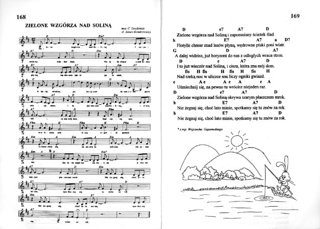 Cudowna Wakacyjne piosenki 1-4 zestaw Muzo śpiewniki, nuty, partytury XD49