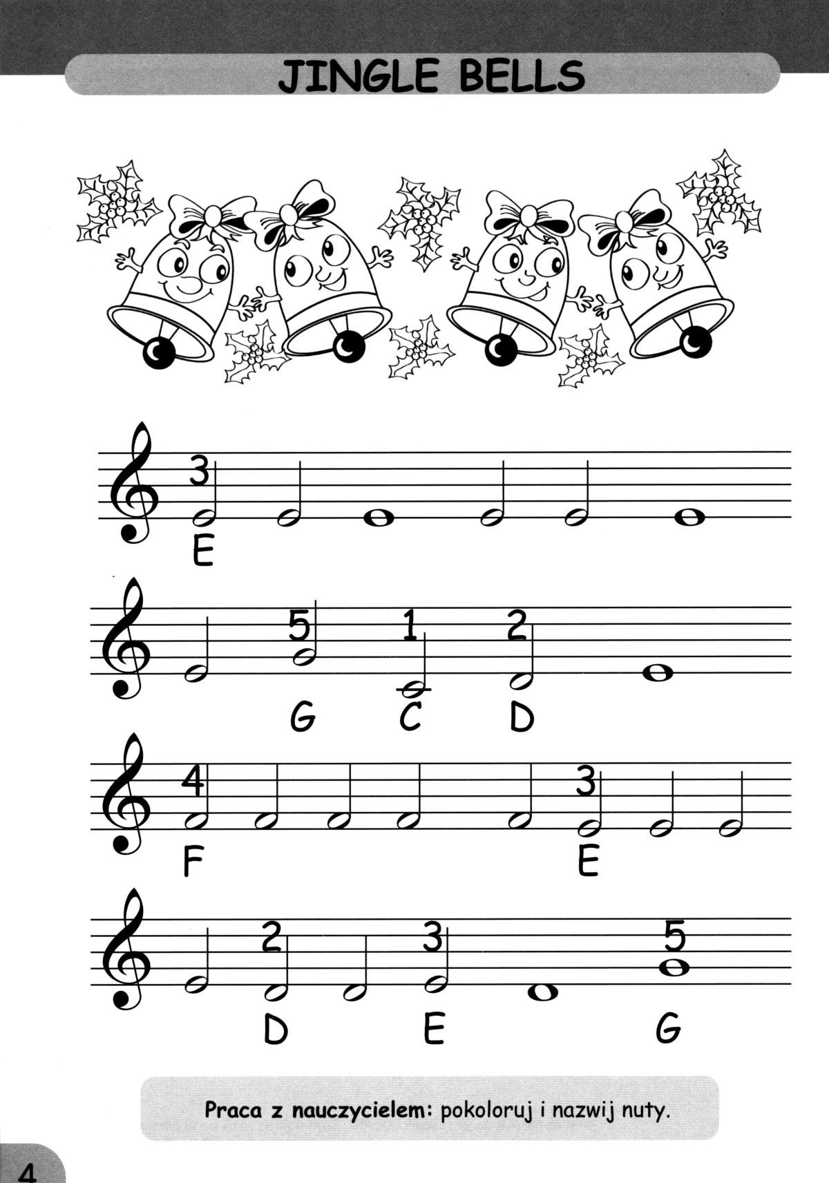 Chwalebne Kolorowe dźwięki 2 - nauka gry na fortepianie dla najmłodszych YH89