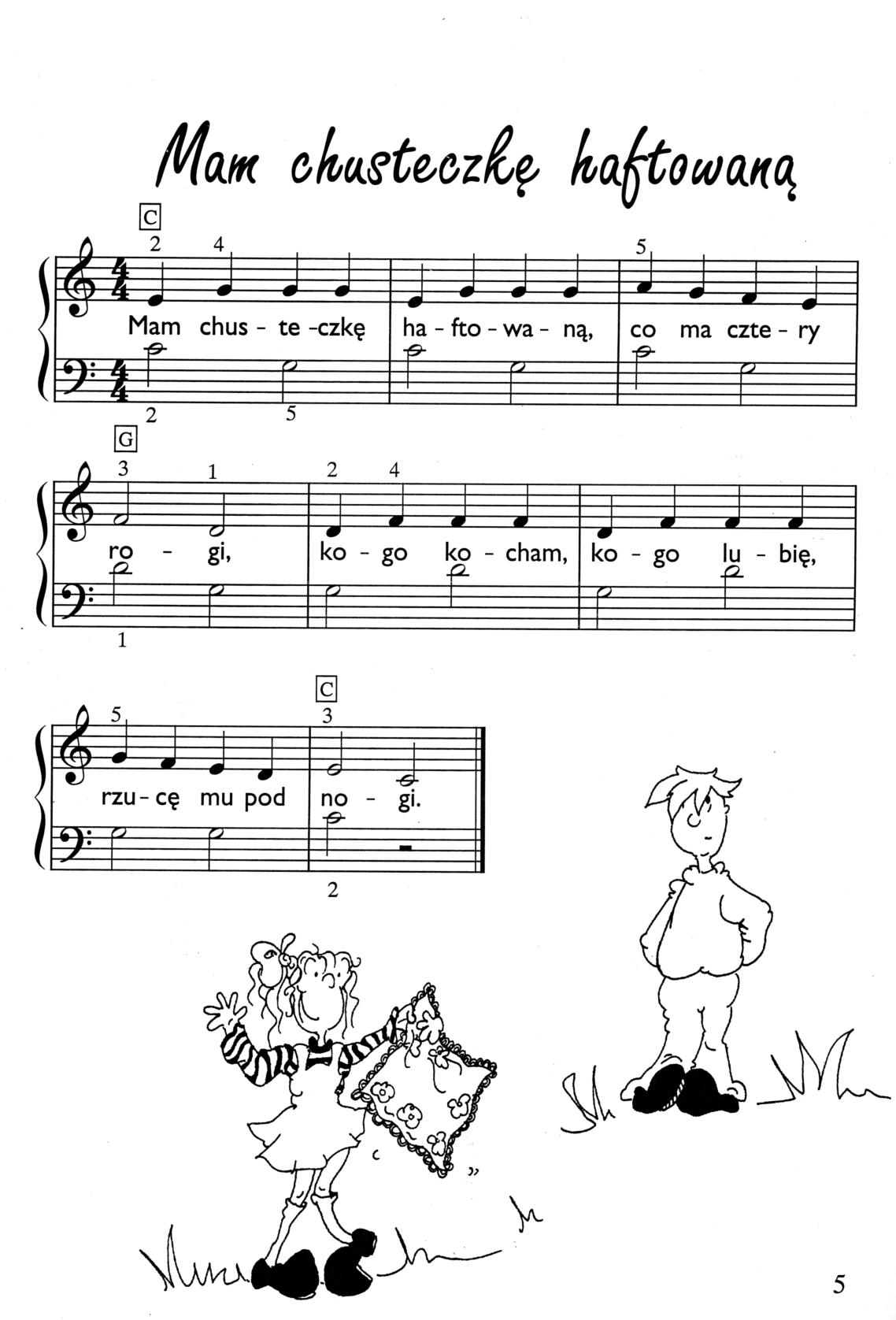 Wspaniały Łatwe piosenki na fortepian - nuty na fortepian dla dzieci Muzo LY54